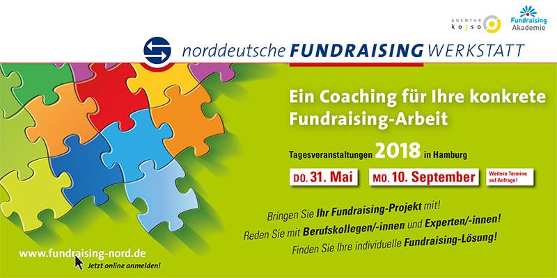 Flyer Fundraising-Werstatt 2018