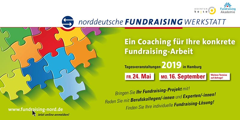 Flyer Fundraising-Werstatt 2019